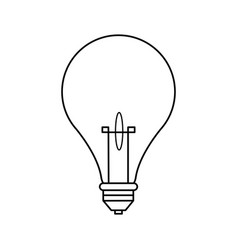 bulb light creative idea thinking icon symbol vector image vector image