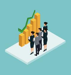 Business isometric people vector