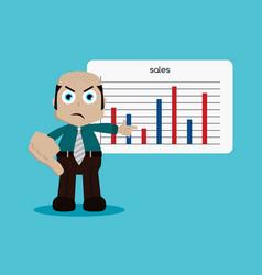 businessman manager at work cartoon art vector image
