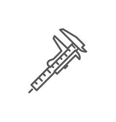 caliper line icon on white background vector image