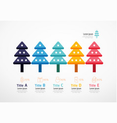 christmas tree resources infographic business vector image