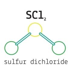 Cl2S sulfur dichloride molecule vector