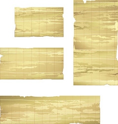 Collection of bamboo banner drawing vector