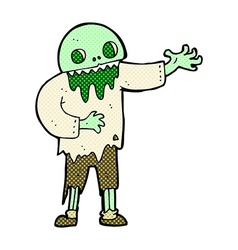 comic cartoon spooky zombie vector image