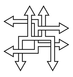 Complex ways solve complex problems arrow vector