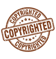 Copyrighted stamp vector