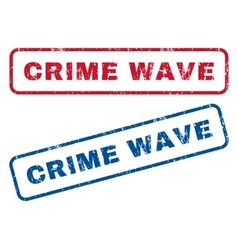 Crime wave rubber stamps vector