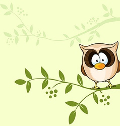 Design with cute owl vector