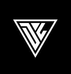 Dl logo monogram with triangle shape designs vector