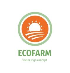 Eco farm icon vector