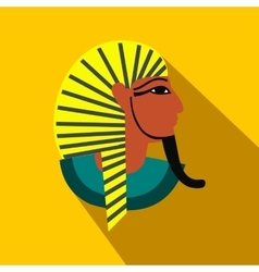 Egyptian pharaoh icon flat style vector image