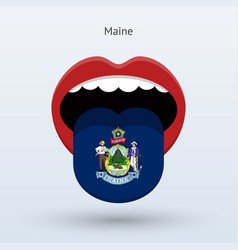 Electoral vote of maine abstract mouth vector