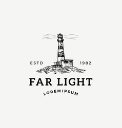 far light abstract sign symbol or logo vector image