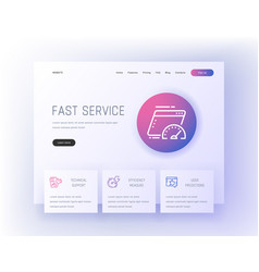 fast service technical support efficiency vector image