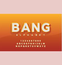font 3d alphabet retro typeace typography classic vector image