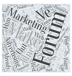 Forum Marketing Advertising Online Word Cloud vector image