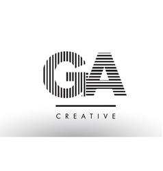 Ga g a black and white lines letter logo design vector
