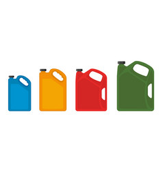 Gasoline fuel canister icon petrol can vector