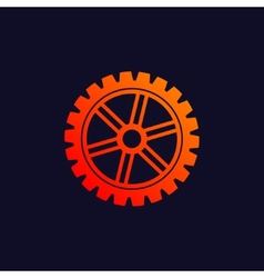 Gear background icon vector