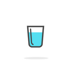 glass water icon isolated on white vector image