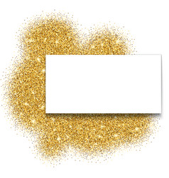 Gold glitter bright vector image