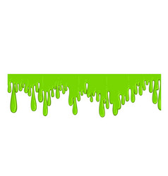 green flowing slime icon spooky halloween vector image