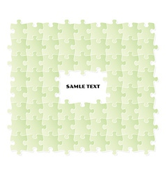 green puzzle field vector image
