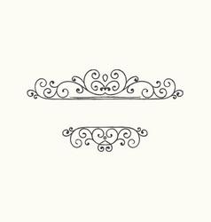 Hand drawn decorative border in grunge retro style vector