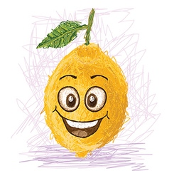 Happy lemon vector