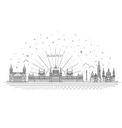hungarian travel landmark historical building vector image