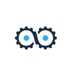 Infinite gear logo icon design vector