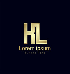 initial letter kl logo template design vector image