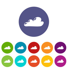 internet cloud icons set color vector image