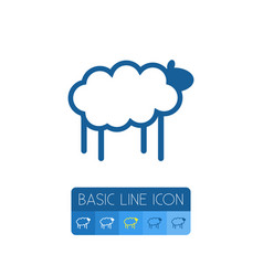 Isolated sheep outline lamb element can be vector