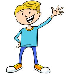 Kid boy character cartoon vector