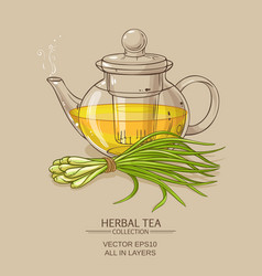 Lemongrass tea vector