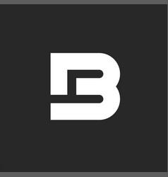 Letter logo b bold monogram style or b4 vector