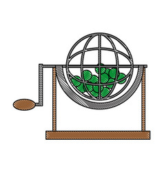 Lottery cage wheel icon vector