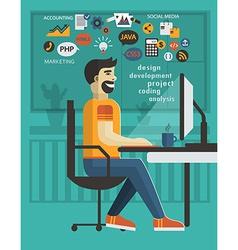 Man in office design vector