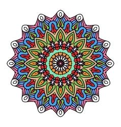 Mandala Round Zentangle Ornament Pattern vector image