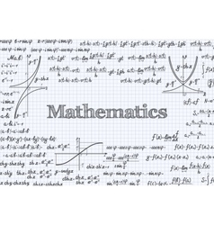 Mathematical pattern background in notebook vector