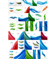 mega collection of flowing motion abstract vector image