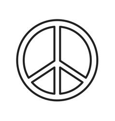 Monochrome peace sign line icon vector