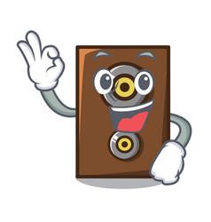 Okay speaker character cartoon style vector