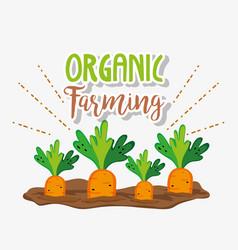 Organic farming cartoons vector