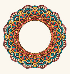 Oriental pattern with mandala vector