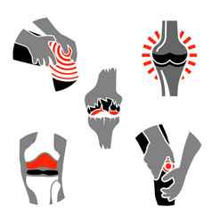 Osteoarthritis icon set vector
