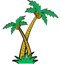 Palm tree tropical vector