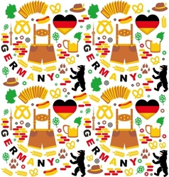 Pattern with Germany icons vector image