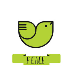 Peace dove logo for international peace day vector